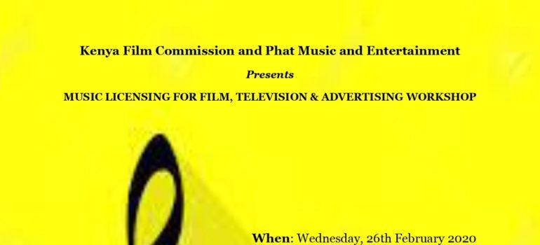 MUSIC LICENSING FOR FILM, TELEVISION & ADVERTISING WORKSHOP